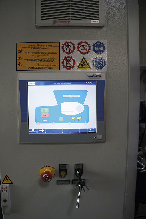 Wagner Shredder PLC Touch Panel Sold By Copper Recovery