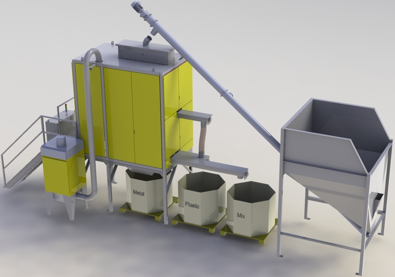 Hamos KWS Metal Plastic Separator Sold By Copper Recovery